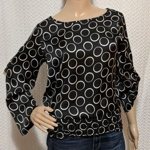 Michael Kors Circle blouse with convertible sleeve
